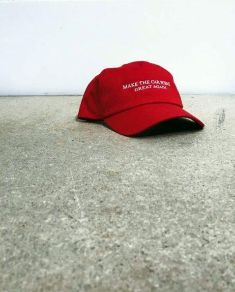 Make the car scene great again. Trump hat
